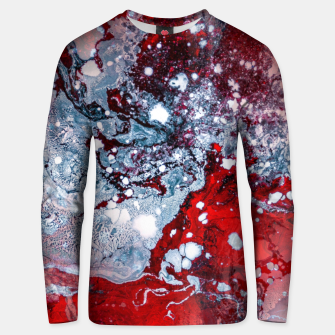 Thumbnail image of Silver Red Abstract Art Unisex sweater, Live Heroes