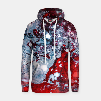 Thumbnail image of Silver Red Abstract Art Hoodie, Live Heroes