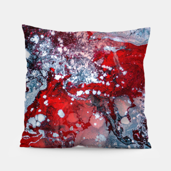 Thumbnail image of Silver Red Abstract Art Pillow, Live Heroes