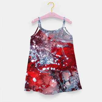 Thumbnail image of Silver Red Abstract Art Girl's dress, Live Heroes