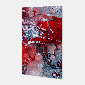 Miniature de image de Silver Red Abstract Art Canvas, Live Heroes