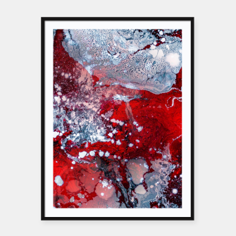 Thumbnail image of Silver Red Abstract Art Framed poster, Live Heroes