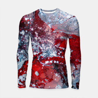 Thumbnail image of Silver Red Abstract Art Longsleeve rashguard , Live Heroes