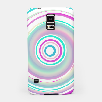 Miniaturka Abstract Purple Teal Spiral Samsung Case, Live Heroes
