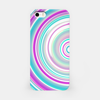 Miniaturka Abstract Purple Teal Spiral iPhone Case, Live Heroes