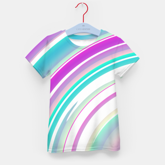 Miniaturka Abstract Purple Teal Spiral Kid's t-shirt, Live Heroes