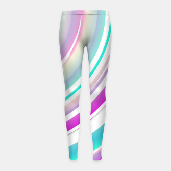 Miniaturka Abstract Purple Teal Spiral Girl's leggings, Live Heroes