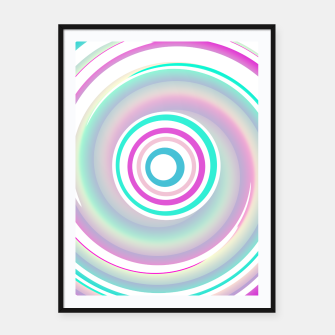 Miniaturka Abstract Purple Teal Spiral Framed poster, Live Heroes