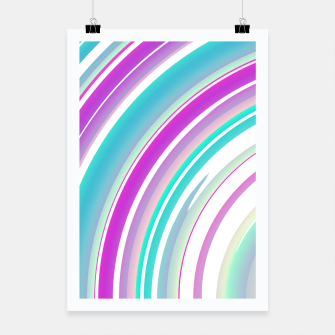 Miniaturka Abstract Purple Teal Spiral Poster, Live Heroes