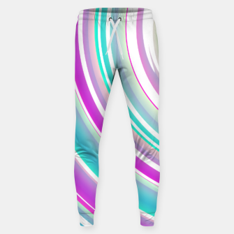 Miniaturka Abstract Purple Teal Spiral Sweatpants, Live Heroes