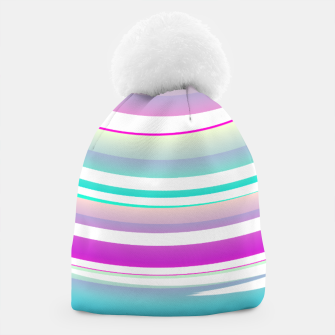 Miniaturka Abstract Purple Teal Spiral Beanie, Live Heroes