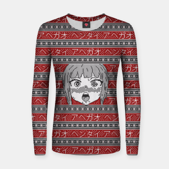 Thumbnail image of Knitted ahegao sweater Women sweater, Live Heroes