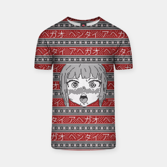 Knitted ahegao sweater T-shirt thumbnail image