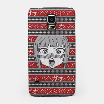 Thumbnail image of Knitted ahegao sweater Samsung Case, Live Heroes