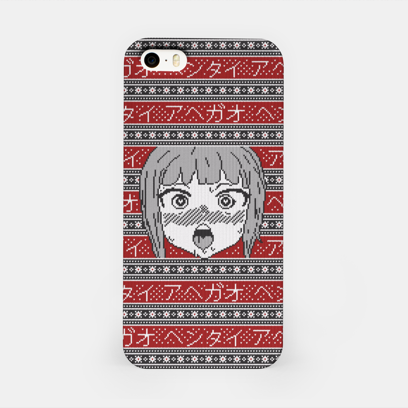 Image of Knitted ahegao sweater iPhone Case - Live Heroes