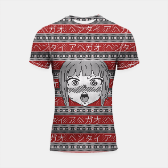 Thumbnail image of Knitted ahegao sweater Shortsleeve rashguard, Live Heroes