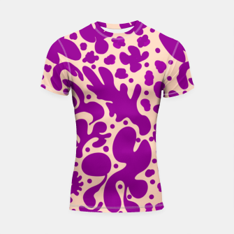 Thumbnail image of Pink shapes Shortsleeve rashguard, Live Heroes