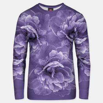 Ultra Violet Peony Flower Bouquet #1 #floral #decor #art Unisex sweatshirt thumbnail image