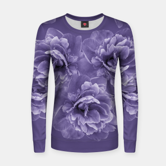 Ultra Violet Peony Flower Bouquet #1 #floral #decor #art Frauen sweatshirt thumbnail image