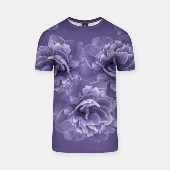 Ultra Violet Peony Flower Bouquet #1 #floral #decor #art T-Shirt thumbnail image