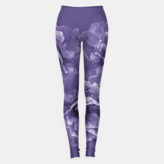 Ultra Violet Peony Flower Bouquet #1 #floral #decor #art Leggings thumbnail image