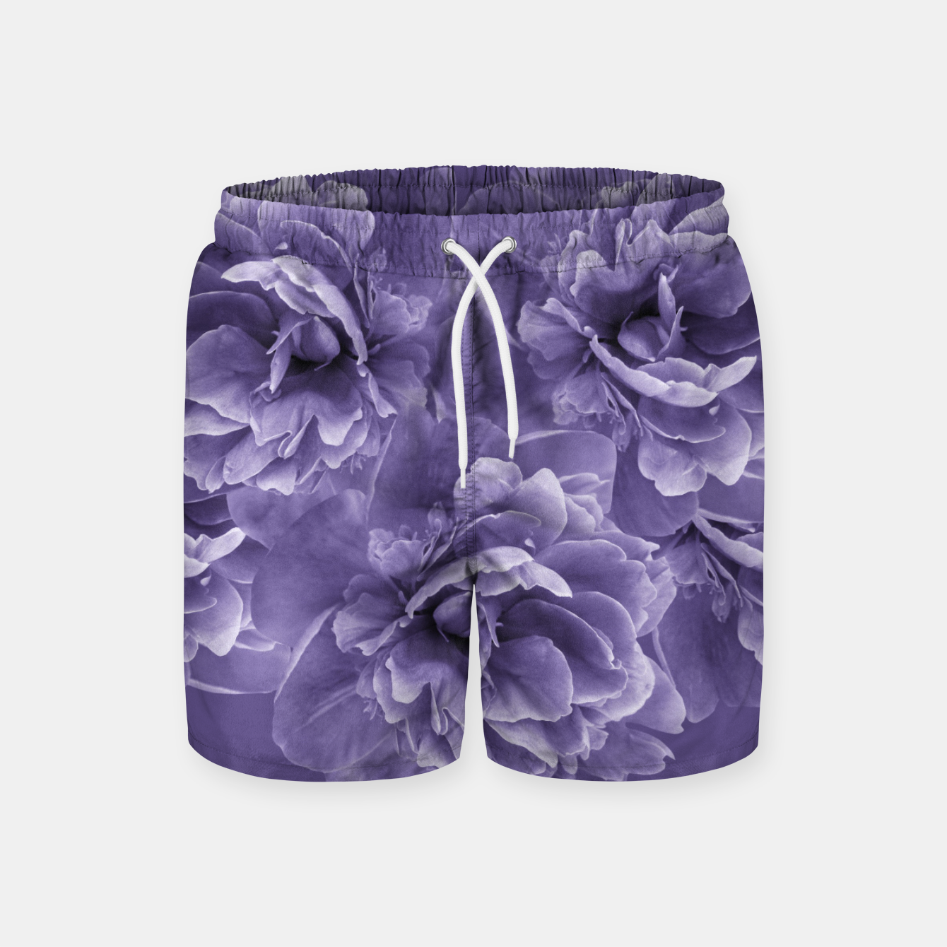 Image of Ultra Violet Peony Flower Bouquet #1 #floral #decor #art Badeshorts - Live Heroes