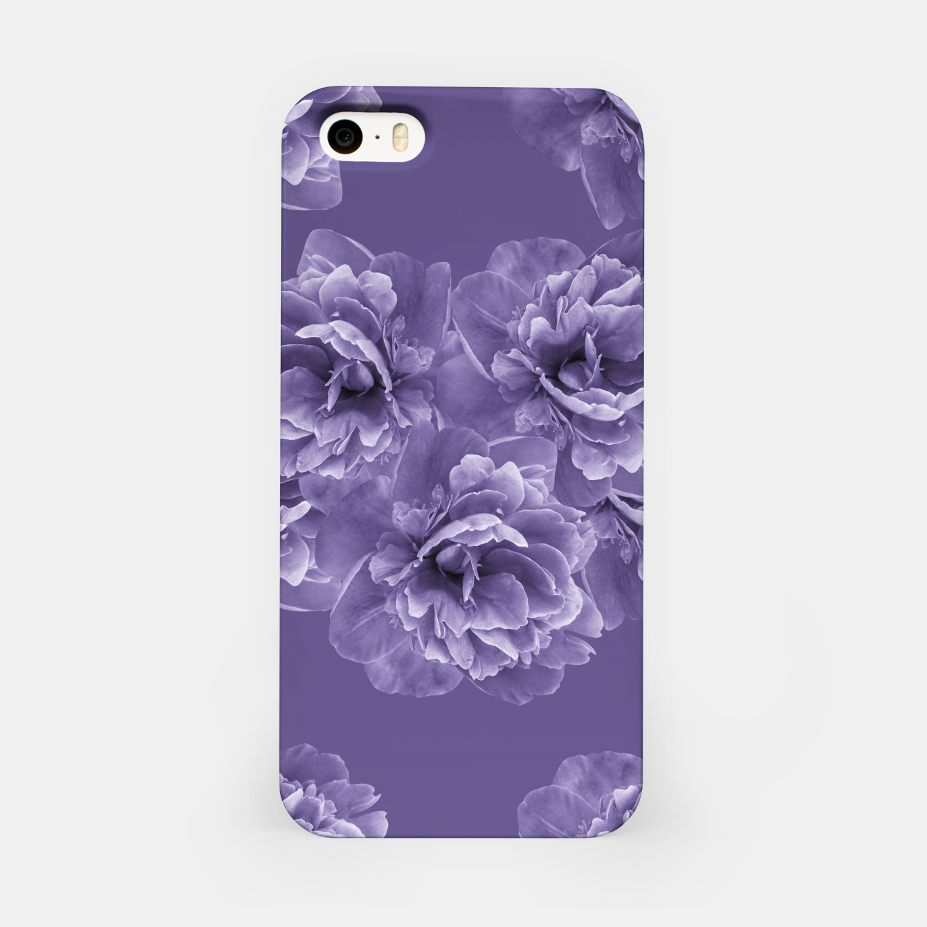 Image of Ultra Violet Peony Flower Bouquet #1 #floral #decor #art iPhone-Hülle - Live Heroes