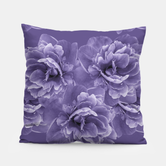Ultra Violet Peony Flower Bouquet #1 #floral #decor #art Kissen thumbnail image