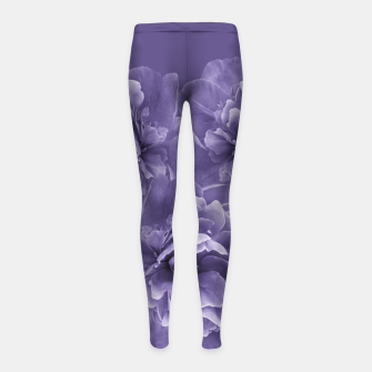 Miniature de image de Ultra Violet Peony Flower Bouquet #1 #floral #decor #art Kinder-Leggins, Live Heroes