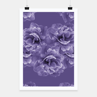 Ultra Violet Peony Flower Bouquet #1 #floral #decor #art Plakat thumbnail image
