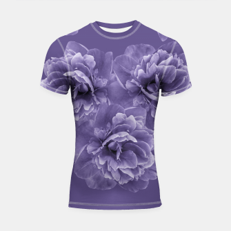 Ultra Violet Peony Flower Bouquet #1 #floral #decor #art Shortsleeve rashguard thumbnail image