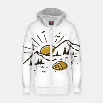 Sunrise Mountain Zip up hoodie Bild der Miniatur