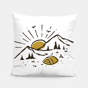 Thumbnail image of Sunrise Mountain Pillow, Live Heroes