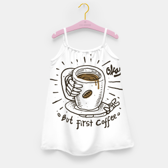 Okay! But First Coffee Girl's dress miniature