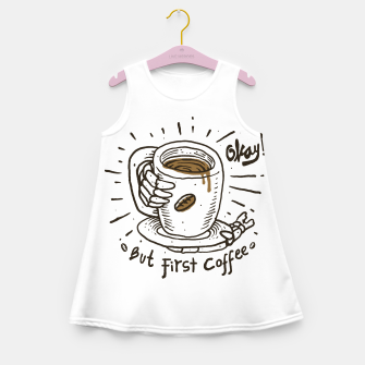 Miniatur Okay! But First Coffee Girl's summer dress, Live Heroes