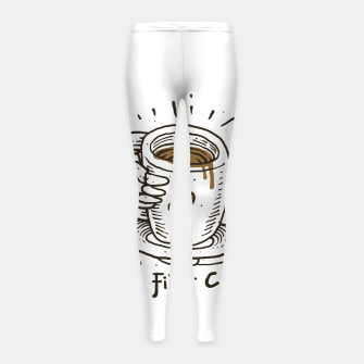 Okay! But First Coffee Girl's leggings miniature