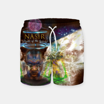 Miniatur NAS - Ether - lyrical power  Hoodie Swim Shorts, Live Heroes