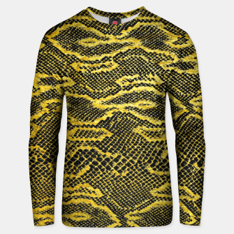 Black and Gold Snake Skin Unisex sweater obraz miniatury