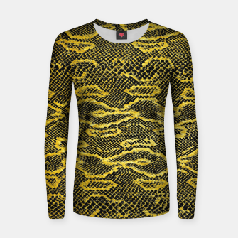 Black and Gold Snake Skin Women sweater obraz miniatury