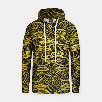 Black and Gold Snake Skin Hoodie obraz miniatury