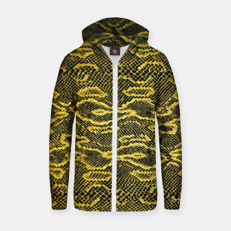 Thumbnail image of Black and Gold Snake Skin Zip up hoodie, Live Heroes