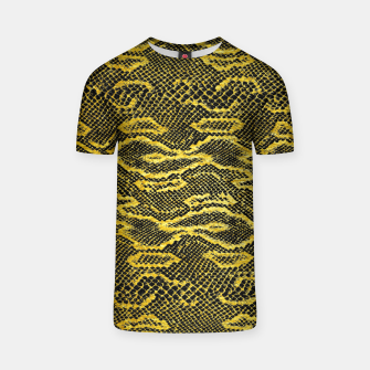Miniaturka Black and Gold Snake Skin T-shirt, Live Heroes