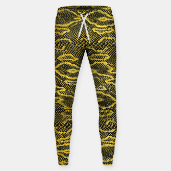 Thumbnail image of Black and Gold Snake Skin Sweatpants, Live Heroes