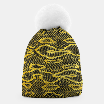 Black and Gold Snake Skin Beanie obraz miniatury