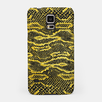 Black and Gold Snake Skin Samsung Case obraz miniatury