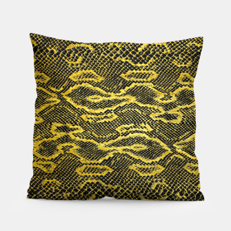 Thumbnail image of Black and Gold Snake Skin Pillow, Live Heroes