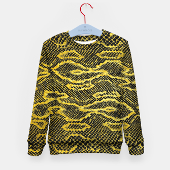 Thumbnail image of Black and Gold Snake Skin Kid's sweater, Live Heroes