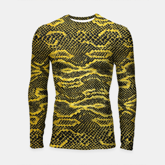 Thumbnail image of Black and Gold Snake Skin Longsleeve rashguard , Live Heroes