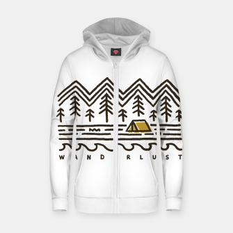 Thumbnail image of Wanderlust Zip up hoodie, Live Heroes