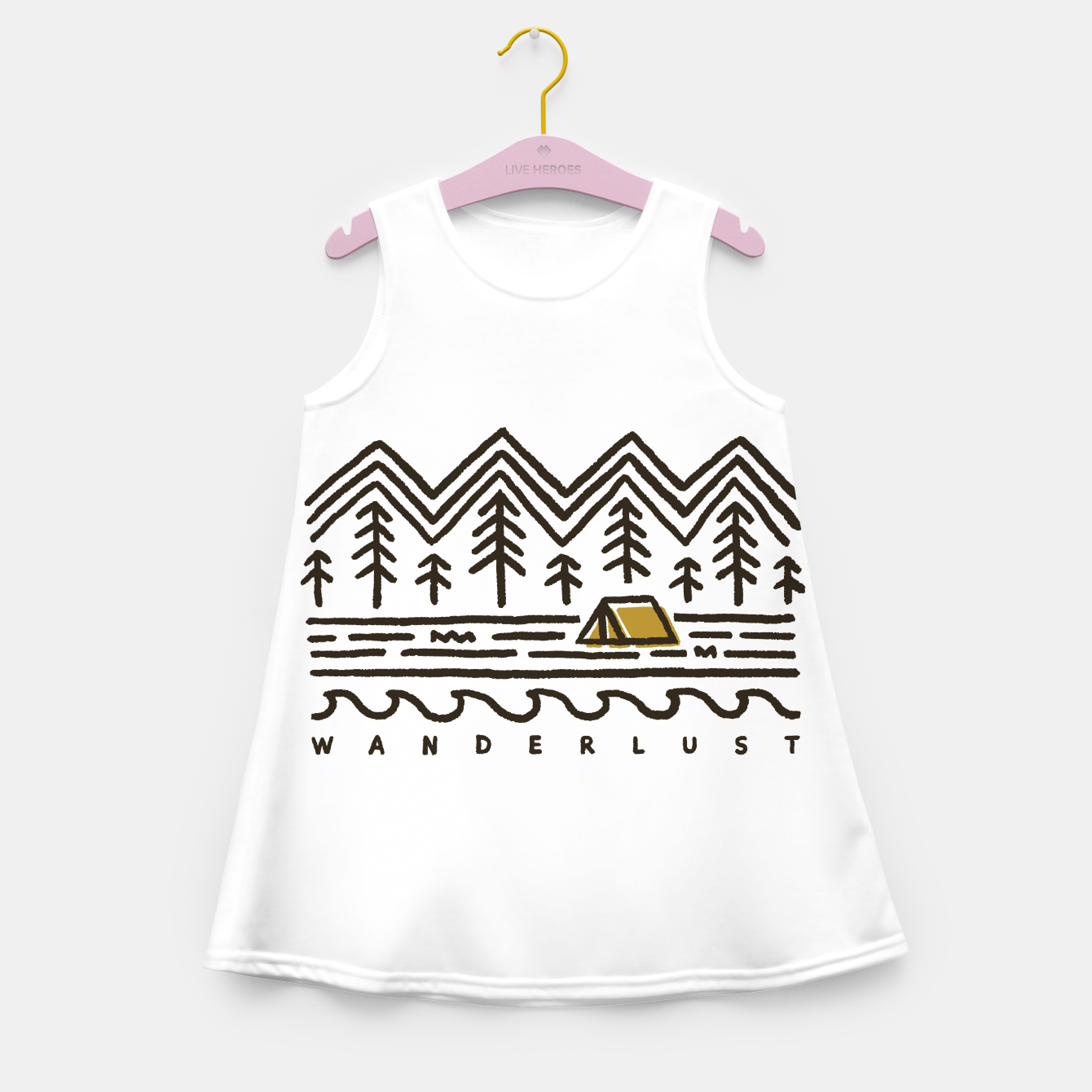 Image de Wanderlust Girl's summer dress - Live Heroes